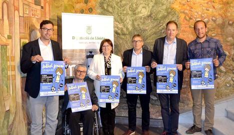 La Jornada de Futbol Femení que acollirà Torrefarrera es va presentar ahir a la Diputació de Lleida.