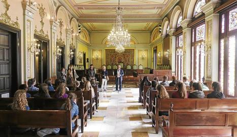 Alumnes francesos al Lladonosa
