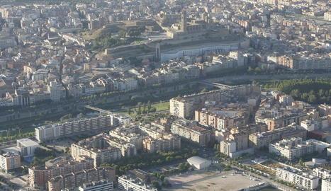 Vista aèria del barri de Cappont, on van tenir lloc els fets el cap de setmana passat.
