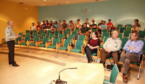 Un moment de la conferència celebrada ahir.