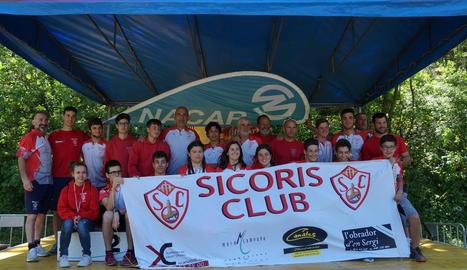 El Sícoris guanya 23 medalles en l'inici de la lliga estatal d'aigües braves