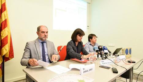 Presentació del programa 'T'acompanyem' ahir a Lleida.