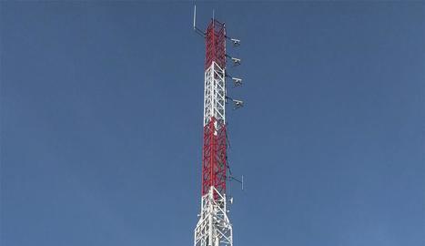 L'antena que s'ha instal·lat.