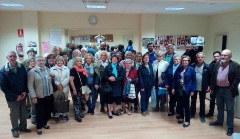 Foto dels assistents a la reunió d'ahir al Clot.