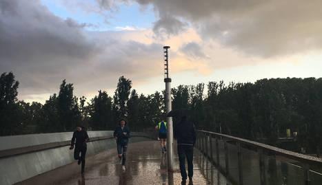 Una tempesta de pedra sorprèn a Lleida