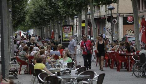 Terrasses de bars a Lleida.