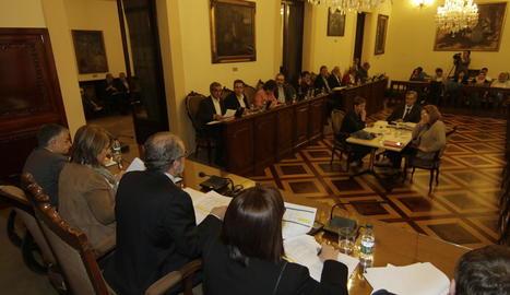 El ple de la Diputació de Lleida que es va celebrar ahir.