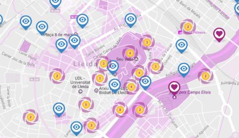 Els instagràmers de Lleida ja tenen un mapa de la ciutat