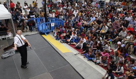 Pepe Viyuela va ser una de les estrelles d'ahir al festival Buuuf! d'Alcoletge.