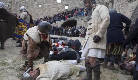 La recreació del setge al castell medieval de Ciutadilla.
