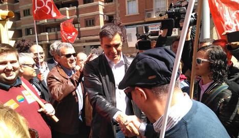 """Pedro Sánchez diu que """"Iglesias és l'espàrring de Rajoy"""""""