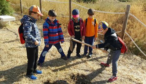 Alguns dels nens que van participar en l'activitat.