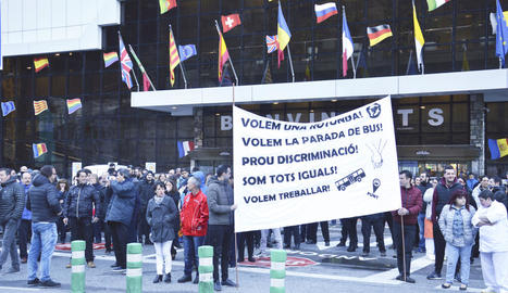 Els treballadors es van manifestar a les 8.30 hores del matí.