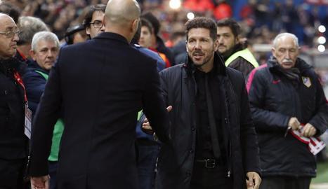 Zidane i Simeone viuran avui un intens duel a la Champions.