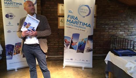 Fabián Escudé, gerent del Club Nàutic de Cambrils, ahir a Lleida.