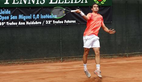 Pablo Irigaray va perdre en un partit molt disputat.