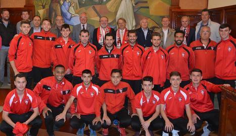 La Diputació homenatja l'equip Juvenil de l'At. Segre
