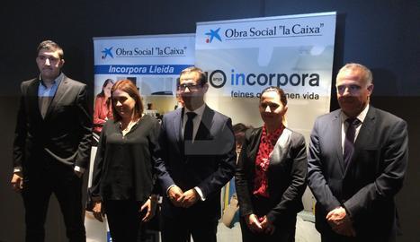 Acte de presentació del balanç del programa Incorpora de 'La Caixa'
