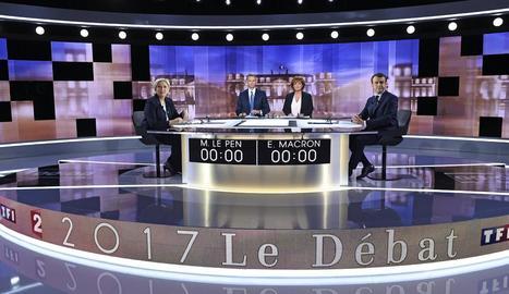 Marine Le Pen i Emmanuel Macron van protagonitzar més de dos hores de dur debat cara a cara.