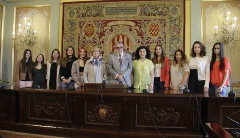 La presentació de les 'pubilles' de la Festa Major de Lleida.