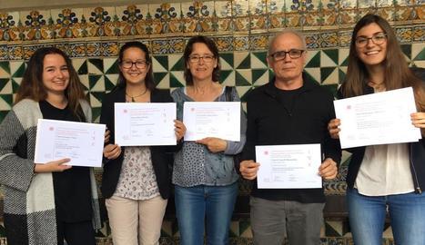 Els alumnes distingits del Josep Lladonosa.