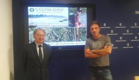 Arcadi Climent, a la dreta, ahir a la Diputació amb Cerdà.