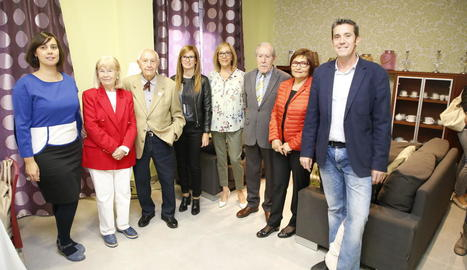 La inauguració dels nous pisos va comptar amb la presència de Josep Vallverdú.