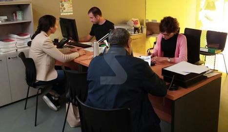 L'oficina del Centre Històric on es realitzen sessions d'orientació laboral.