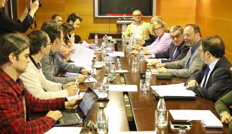 La reunió de Transparència va tenir lloc ahir a la Paeria amb la presència de l'alcalde i els altres grups.