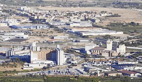 Imatge del polígon industrial El Segre, que compta amb una gran concentració d'empreses.