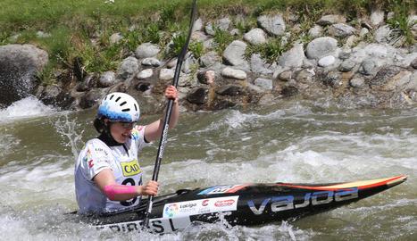 Laia Sorribes va tornar a dominar la categoria K1 juvenil com ja va fer en la jornada de dissabte.