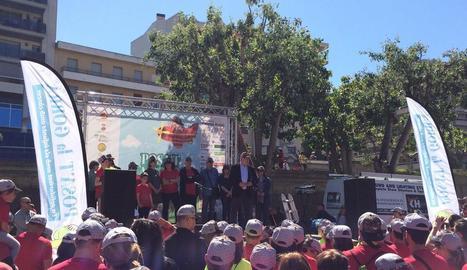 El conseller d'Empresa, Joan Baiget, va assistir ahir a la festa solidària de Balaguer.