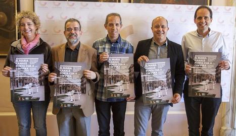 Presentació de la nova edició del concurs, ahir a Cervera.
