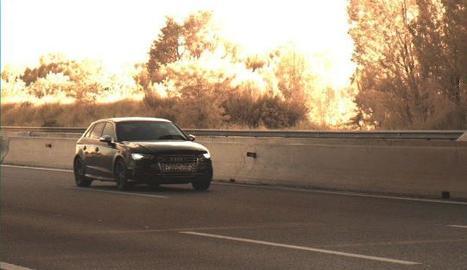 El vehicle infractor, 'caçat' pel radar dels Mossos d'Esquadra
