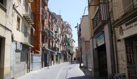 Una vista del carrer Boters de Lleida.