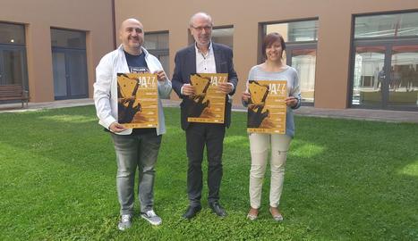 La presentació de Jazz al Pati va tenir lloc ahir a Balaguer.
