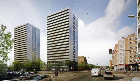 Imatge virtual de les torres de pisos previstes al costat de la Llotja.