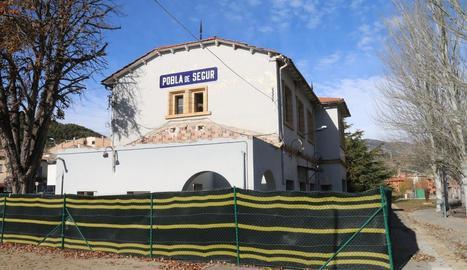 Imatge d'arxiu de l'estació de la Pobla de Segur.