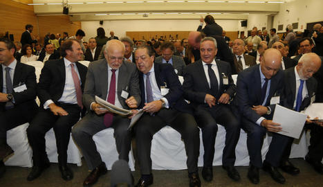 Els presidents de Mercadona i Grupo Cosentino, al centre.