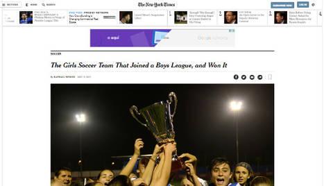 L'AEM Lleida femení, notícia en The New York Times