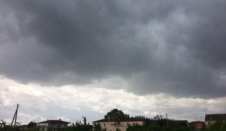Tempesta a Ivars d'Urgell.