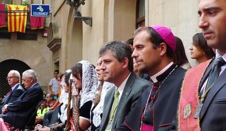 David Rodríguez i Xavier Novell, a la festa major de Solsona.