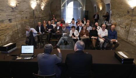 L'acte de presentació de les obres de restauració de la Seu Vella de Lleida.