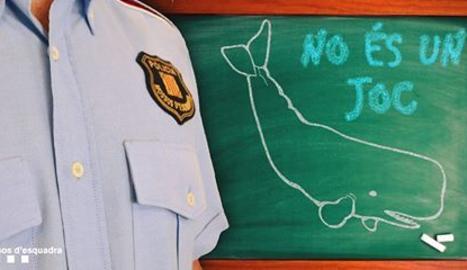 El Mossos d'Esquadra alerten del perill del joc 'balena blava'