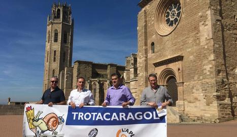 La Trotacaragol es va presentar ahir a la Seu Vella, on finalitzarà aquest prova inèdita a Lleida.