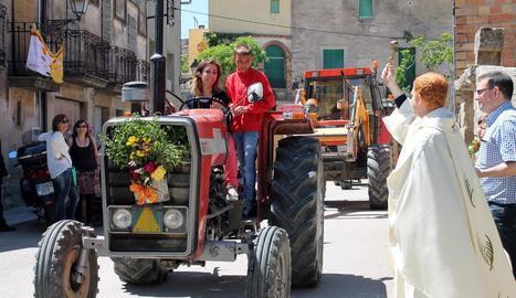 Moment de l'exhibició de tractors de Gra.