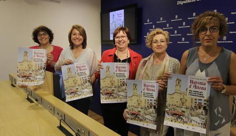 La presentació del Mercat Barroc a la Diputació de Lleida.