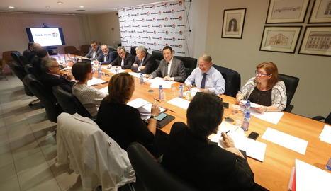 La reunió del patronat de Fira de Lleida celebrada ahir.