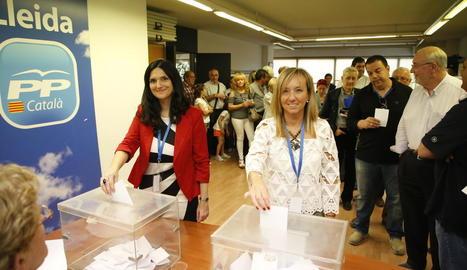 Horcajada i Xandri en el moment de la votació.