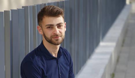 Adam Najjari, ahir a la facultat de Medicina de la UdL.